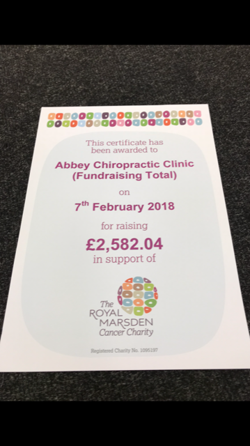 Abbey Chiropractic raises money for charity